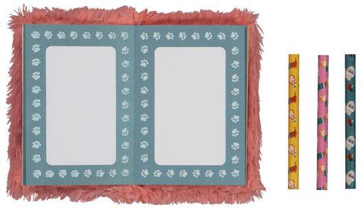 cadeauset fluffy schetsboek - 15950049 - HEMA