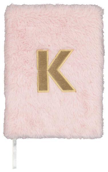 Notitieboek A5 fluffy letter K