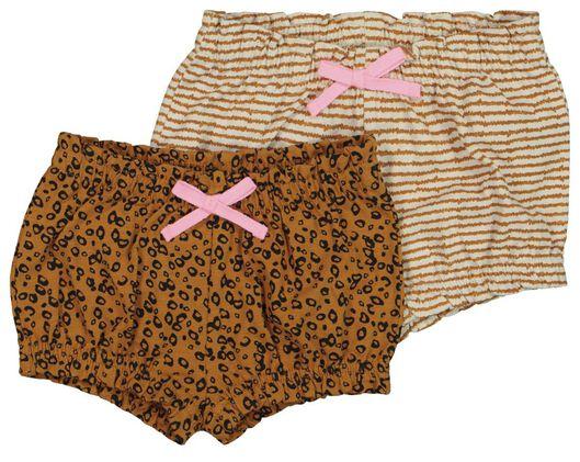 babyshorts - 2 stuks bruin 62 - 33086751 - HEMA