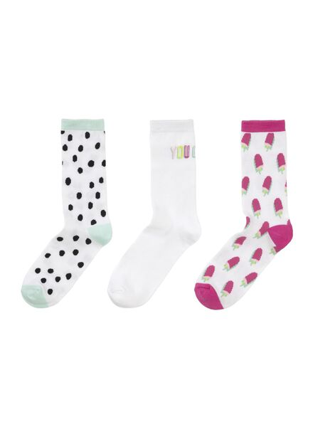 sokken - 3 paar maat 39-42 - 60500485 - HEMA