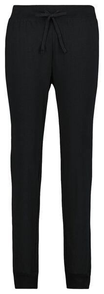 dames pyjamabroek katoen sweat zwart zwart - 1000025247 - HEMA