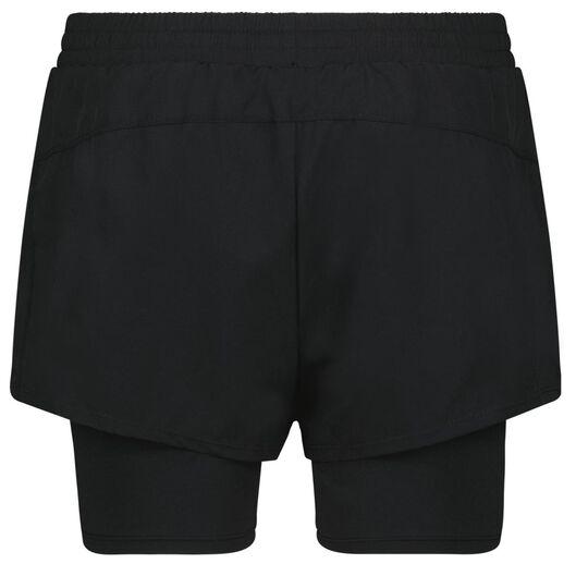dames sportshort zwart zwart - 1000024239 - HEMA