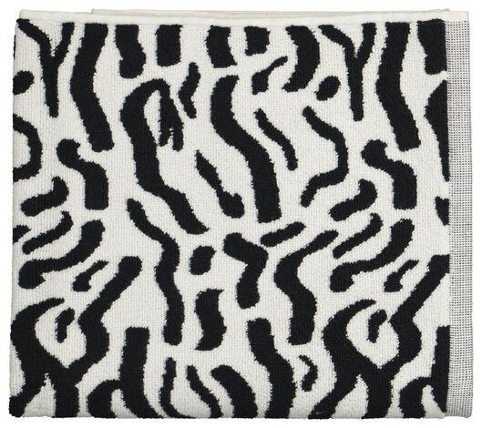 badmat - zebra - 50x80 - wit/zwart - 5200183 - HEMA