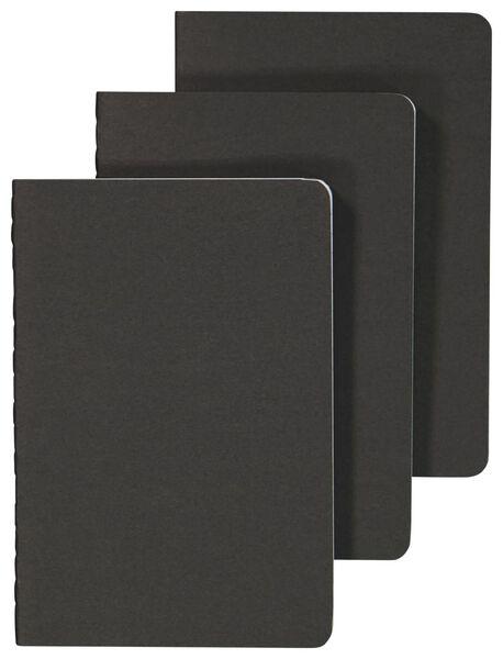 Schriften zwart A6 gelinieerd - 3 stuks - in Schriften