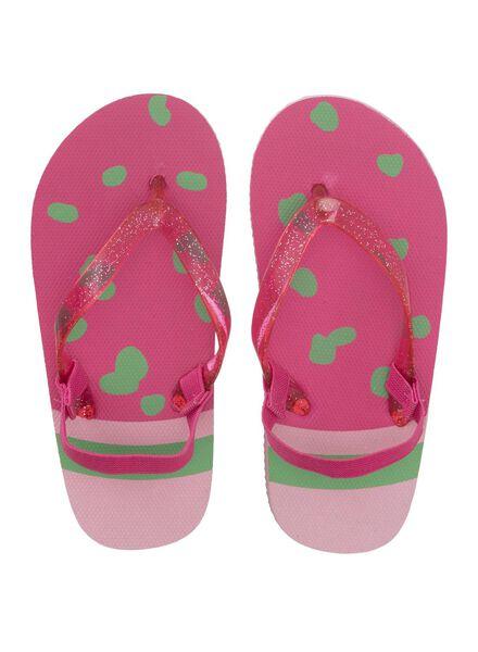 kinder teenslippers roze roze - 1000012197 - HEMA