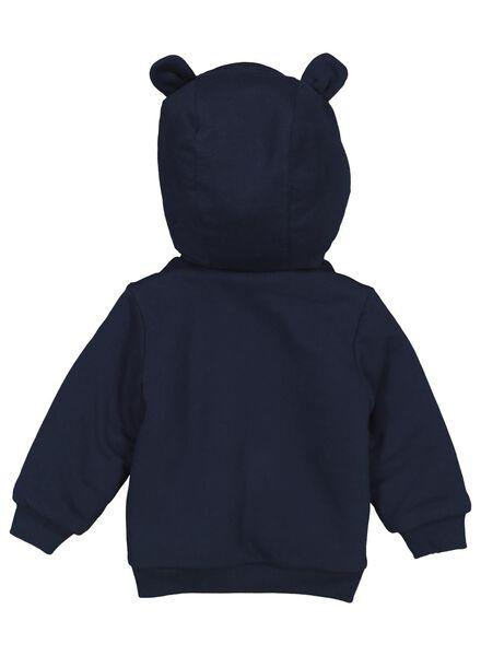 baby sweatvest donkerblauw donkerblauw - 1000015323 - HEMA