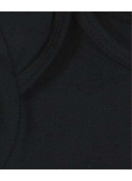 romper biologisch katoen stretch zwart zwart - 1000015070 - HEMA