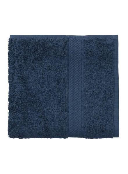 handdoek - 50 x 100 cm - zware kwaliteit - denim uni - 5240180 - HEMA