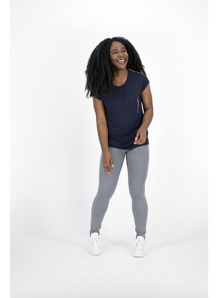 dames t-shirt donkerblauw donkerblauw - 1000014337 - HEMA