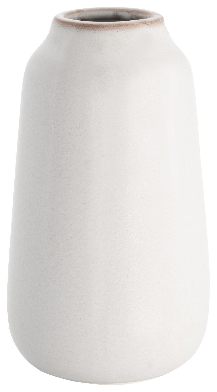 HEMA Vaas Ø8x15.5 Reactief Glazuur Wit (gebroken wit)