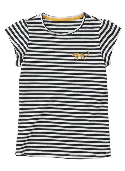 kinder t-shirt donkerblauw donkerblauw - 1000013427 - HEMA