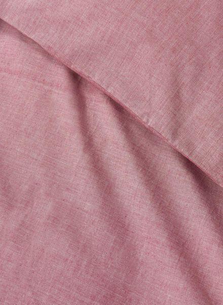dekbedovertrek - chambray katoen - 140 x 200 cm - rood rood 140 x 200 - 5700126 - HEMA