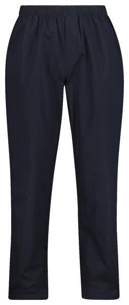 herenpyjama poplin donkerblauw XL - 23600073 - HEMA