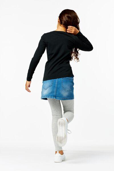 kinder t-shirt zwart zwart - 1000013503 - HEMA