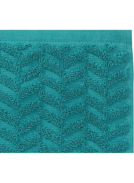 handdoek - 70 x 140 cm - zware kwaliteit - donkergroen zigzag - 5240202 - HEMA