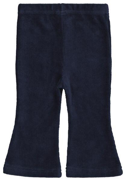 babybroek rib flared blauw blauw - 1000022022 - HEMA