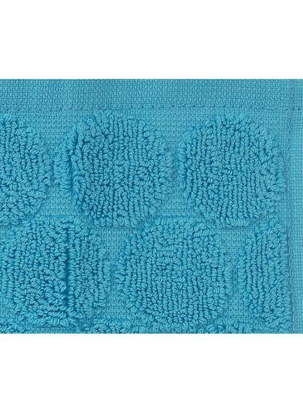 gastendoek - 30 x 55 cm - zware kwaliteit - aqua stip aqua gastendoekje - 5200057 - HEMA