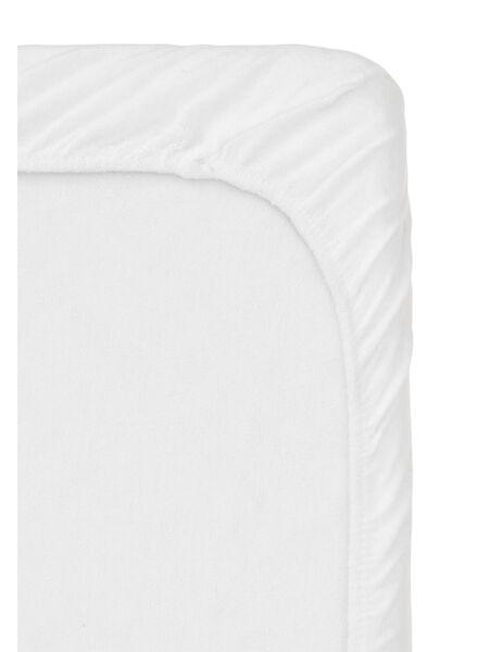 molton hoeslaken topmatras - stretch - 90 x 200 cm wit 90 x 200 - 5100143 - HEMA