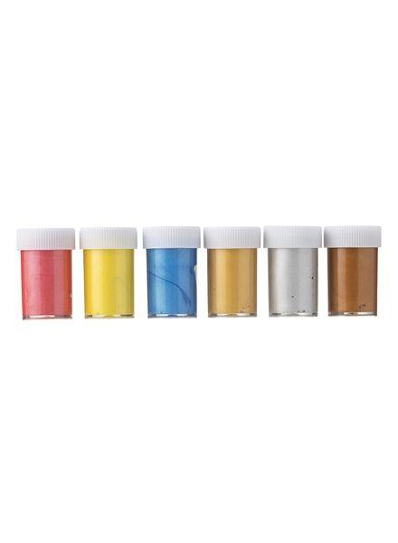 6-pak plakkaatverf metaalkleur - 15990325 - HEMA