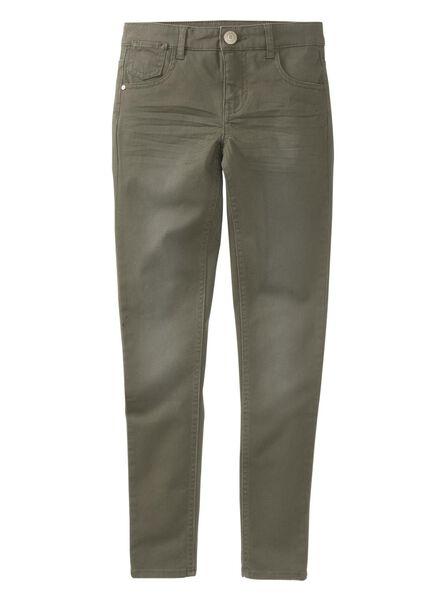 kinderbroek skinny donkergroen donkergroen - 1000008399 - HEMA