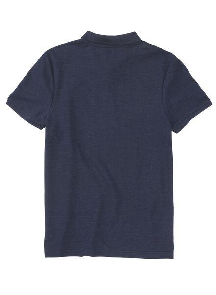 herenpolo blauw blauw - 1000012021 - HEMA