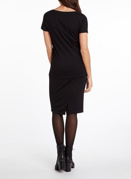 dames t-shirt zwart zwart - 1000005472 - HEMA