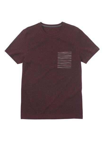 heren t-shirt donkerrood donkerrood - 1000010514 - HEMA