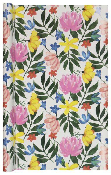 Cadeaupapier 200x70 bloemen - in Cadeaupapier