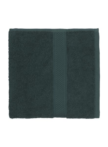 handdoek - 50 x 100 cm - zware kwaliteit - donkergroen - 5220013 - HEMA