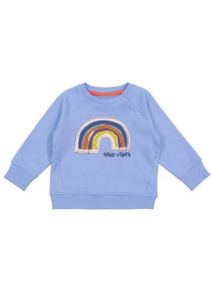 babysweater blauw blauw - 1000017502 - HEMA