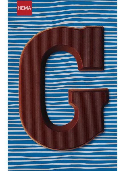 melkchocolade letter G - 10033006 - HEMA
