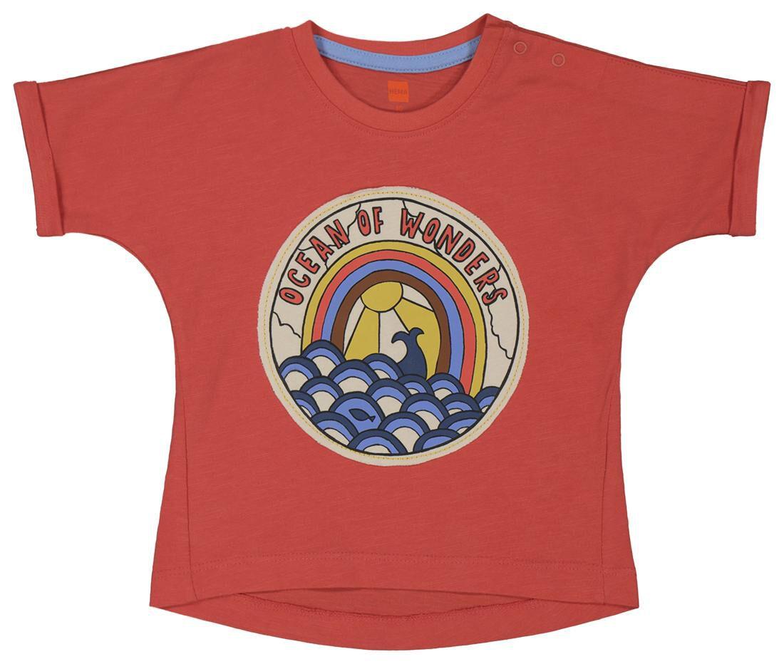 HEMA Baby T-shirt Koraal (koraal)