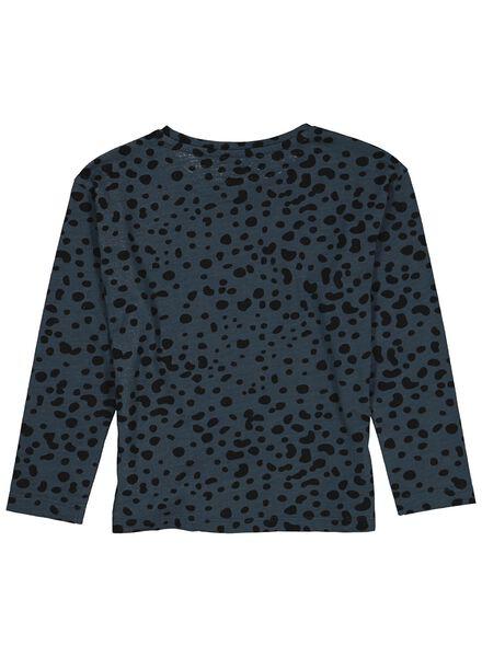 kinder t-shirt blauw blauw - 1000013695 - HEMA
