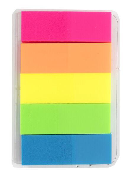 5-pak sticky bookmarks - 14170024 - HEMA