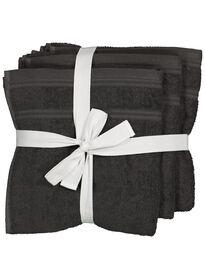 55a8781595f handdoeken - 50 x 100 cm - katoen met rPET - donkergrijs - 4 stuks