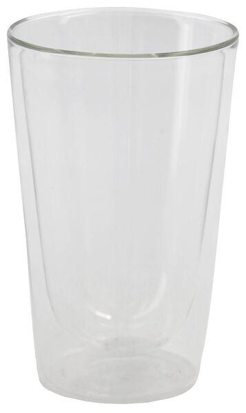 Theeglas dubbelwandig 450ml glas