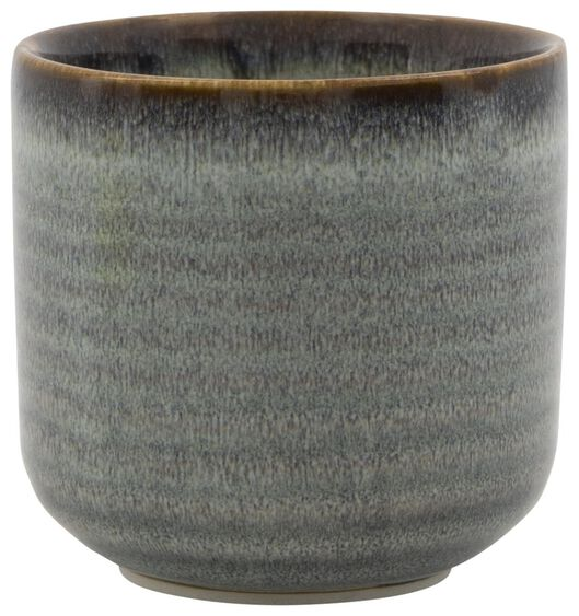 bloempot Ø7x7 aardewerk reactief glazuur 7 x 7 naturel - 13311043 - HEMA