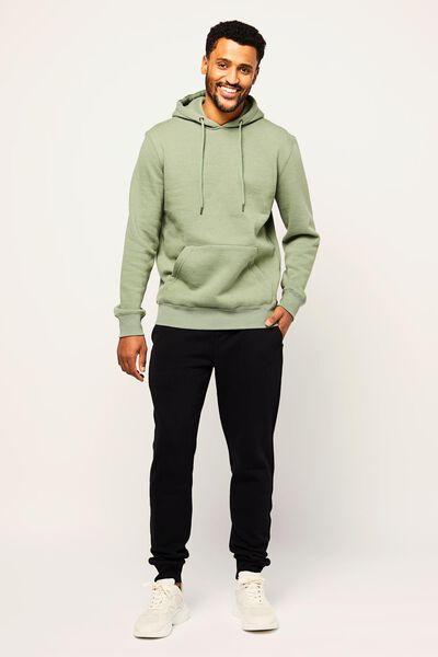 heren capuchonsweater lichtgroen lichtgroen - 1000022458 - HEMA