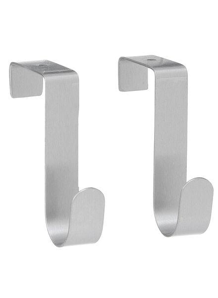 2-pak deurhaken rvs - 80301252 - HEMA