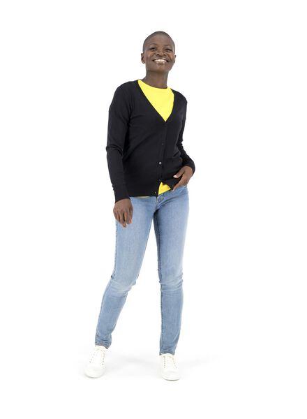 damesvest zwart XL - 36329314 - HEMA