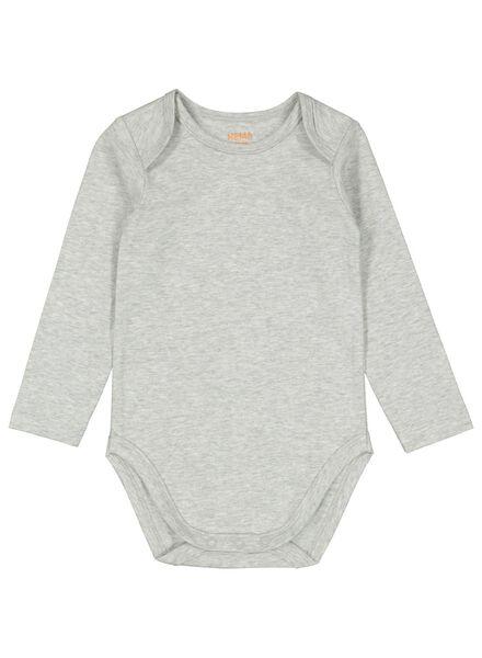 romper stretch grijsmelange grijsmelange - 1000011997 - HEMA
