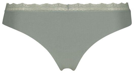 damesstring katoen groen groen - 1000019743 - HEMA