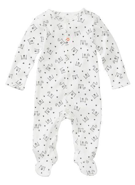 2-pak newborn jumpsuits biologisch katoen gebroken wit - 1000005708 - HEMA