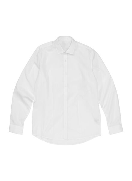 heren overhemd tailored fit wit wit - 1000000007 - HEMA