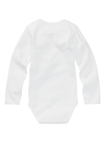 romper katoen - 3 stuks wit wit - 1000005234 - HEMA