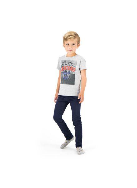 kinderbroek skinny donkerblauw donkerblauw - 1000014290 - HEMA