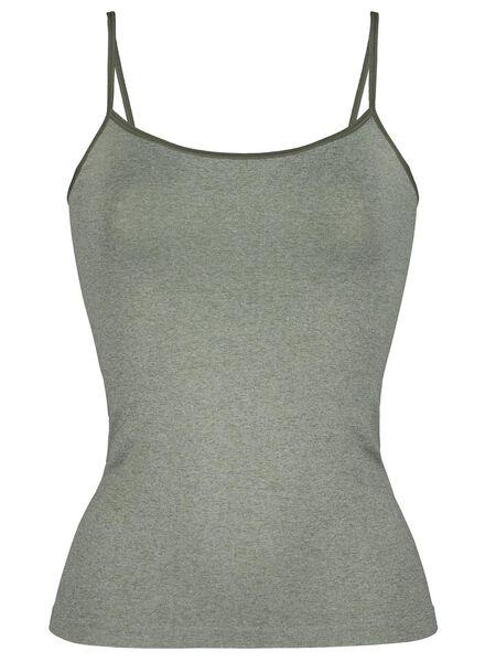 dameshemd naadloos micro groen groen - 1000015693 - HEMA