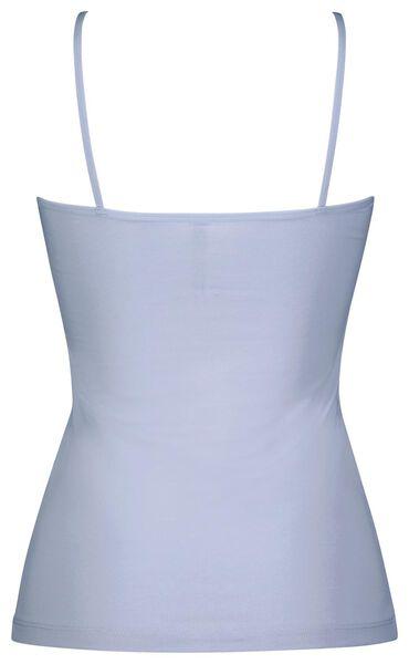 dameshemd spaghettibandjes lichtblauw XS - 19699921 - HEMA