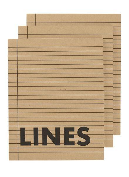 3-pak schriften A5 gelinieerd - 14170060 - HEMA