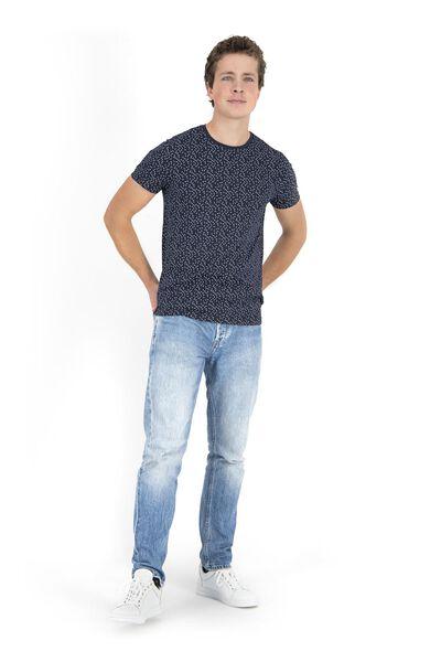 heren t-shirt donkerblauw donkerblauw - 1000018199 - HEMA
